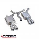 "Cobra Sport Audi A5 B8/B8.5 Coupe 2.0 TDI S-Line Quattro (2007-) 2.25"" Rear Silencers - AU69"