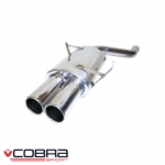 """Cobra Sport BMW 3 Series E46 323i (1998-2006) 2.50"""" Rear Silencer - BM24TP46"""